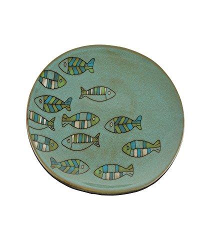 Steingut Fisch Platte 30cm Dia -