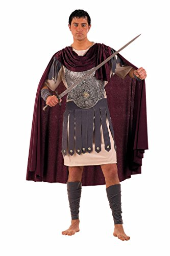 Unbekannt Griechische Kostüm Gr. XXL Erwachsenen 's Costume Trojan 5-Stück Gürtel Stiefel Handschuhe Tunika Cape
