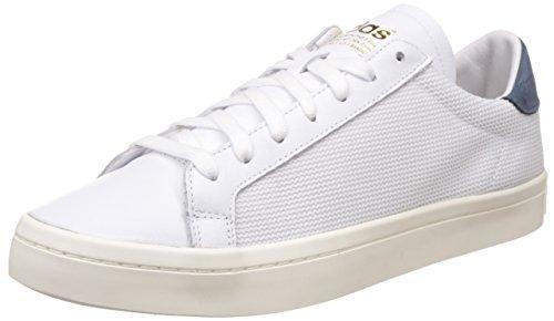 adidas Court Vantage, Formatori Bassi Unisex-Adulto Bianco (Ftwr White/ftwr White/tech Ink)
