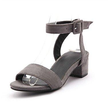 LFNLYX Donna tacchi Primavera / Autunno / Inverno piattaforma / Comfort materiali personalizzati / similpelle matrimonio abito / / Casual Chunky fibbia tacco Light Brown