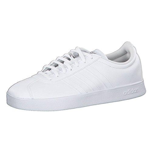 adidas Damen VL Court 2.0 Fitnessschuhe Weiß Ftwbla/Ciberm 000, 40 2/3 EU
