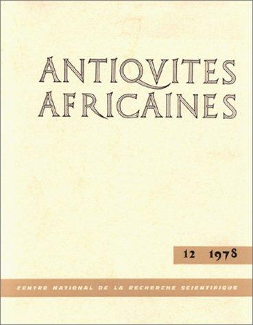 Antiquités africaines, numéro 12 - 1978