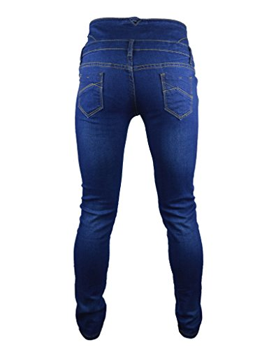 PHOENISING Damen Skinny Hose, Einfarbig Blau