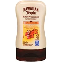 Hawaiian Tropic Satin Sun Lozione, Formato Viaggio, Protezione 30-100 ml