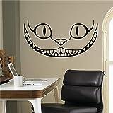 Tier Katze Wandtattoos Applikation Wandkunst Familie Lächeln Schlafzimmer Wandtattoos Wohnzimmer Wandtattoos gibt es in verschiedenen Farben A4 112x57cm