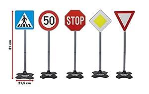 Jamara Set con 5 señales de tráfico Diferentes (460257) , Modelos/colores Surtidos, 1 Unidad