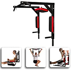 CCLIFE Barre de Traction - Barre de Traction Murale - Chaise Romaine Murale - Barre Traction Barre dips - Barres de Traction Crossfit