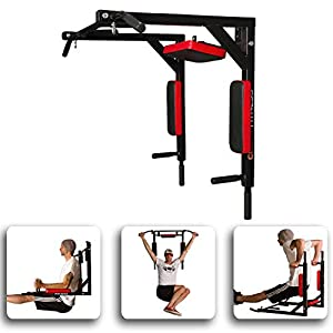 CCLIFE Multigriff Klimmzug Wandmontage Dip Station Pull Up Bar Belastbarkeit bis 200 kg