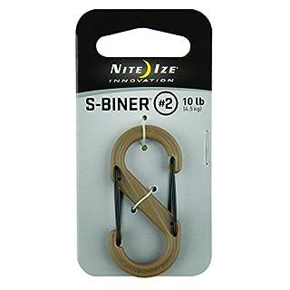 Nite Ize SBP2-03-28BG S-Biner, Coyote, 2-10lb