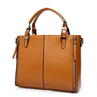 Trendy Brown Shoulder Bag For Women Fashion Leather Ladies HandBag Casual Business Messenger Bag