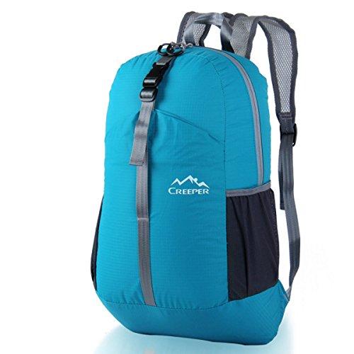 Outdoor Klein Rucksack Leicht Faltbar Sport Tasche Blue
