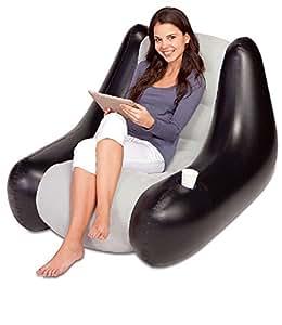 Bestway Perdura Inflatable Flocked Gaming Camping Lounge Chair Sofa Seat