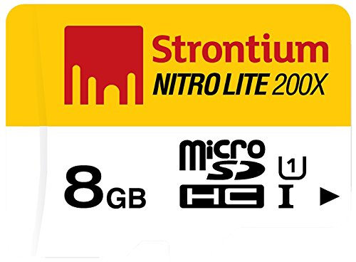 Strontium Nitro Lite SRL8GTFU1 MicroSDHC 8GB UHS-I Class 10 Memory Card with Adapter