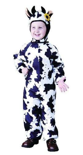 Foxxeo 10075 | Kostüm Kuh Kuhkostüm Tierkostüm für Kinder Kinderkostüm Gr. 86 - 158, (Kostüme Kind Kuh)