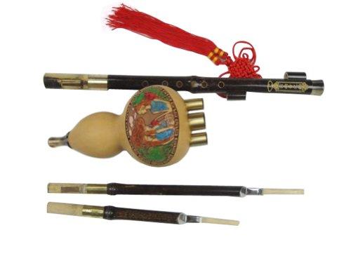 100% Handgeschnitzte Hulusi für Anfänger – Blasinstrument Chinesische Flöte #105