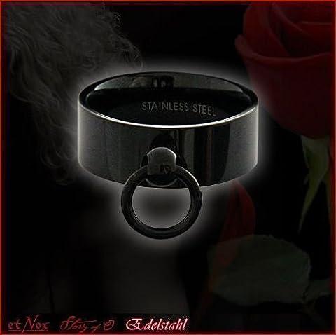 etNox-Ring schwarz ''Story of O.'' 8mm Edelstahl (SR177B), Ringgrösse:62
