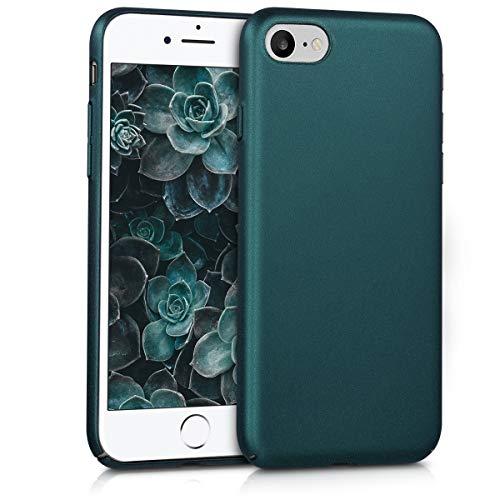 kwmobile Apple iPhone 7/8 Hülle - Handyhülle für Apple iPhone 7/8 - Metallic Petrol - Anti-Rutsch Grip Handy Case Cover
