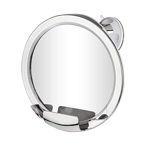 Gotofine Antibeschlag Duschspiegel mit Eingebautem Rasiermesserhalter, 360 Grad Drehbarer Beschlagfreier Rasierspiegel Badspiegel, Garantierte Lebensdauer Kein Nebel