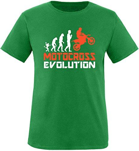 EZYshirt® Motorcross Evolution Herren Rundhals T-Shirt Grün/Weiss/Orange