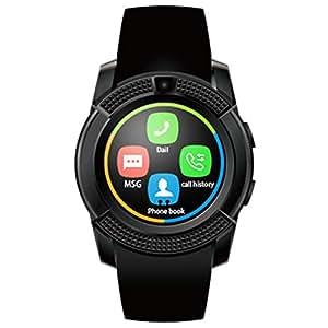 HealthMax HT V8 Black Smartwatch Compatible With Intex Aqua T2 Mobiles