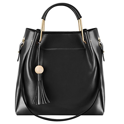 S-ZONE-3-Way-Women-Genuine-Leather-Top-handles-Handbag-Tote-Bag-Shoulder-Bags-with-Long-Shoulder-Strap