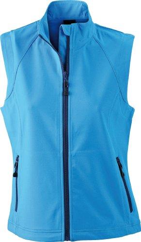 James & Nicholson Damen Jacke Softshellweste blau (azur) X-Large