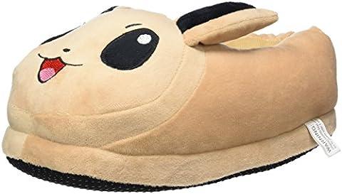 Katara - Chaussons pelucheux en forme de Pokémon, pantoufles chaudes fermées de taille unique, conviennent aux tailles 36-44 - Évoli