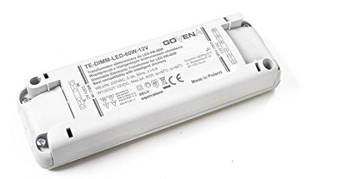 0W - 60W Dimmbar LED Treiber Konstant Voltzahl 12VDC, elektronischer LED-Trafo, Dimmable LED Driver, model TE60W, for 12Vdc LED tapes / strips and LED lamps