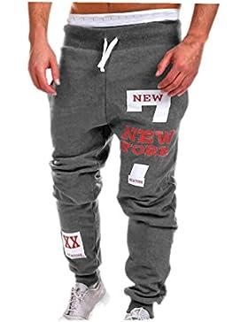 Pantalones de la manera del mens, pantalones de los hombres de la cintura baja de koly, chándal ocasional del...