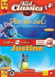 Pack Arc en ciel 1 Le plus beau poisson + Justine 1 et la Pierre de Feu