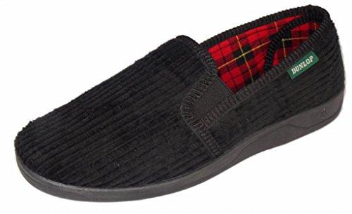 Dunlop , Herren Hausschuhe, Schwarz - schwarz - Größe: 43