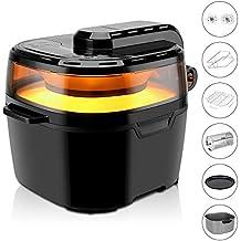 VPCOK Freidora Sin Aceite Inteligente, 10 L, Multifuncional Air Fryer de Gran Capacidad,