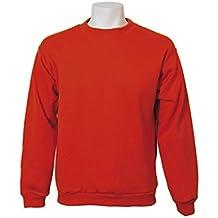 Jumar Sport - Sudadera básica, color: rojo, talla: l
