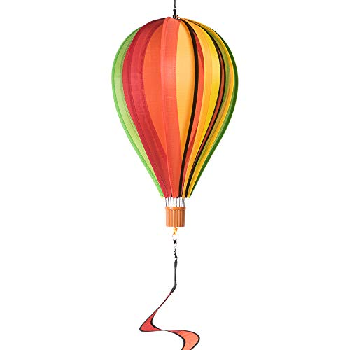 CIM Girouette Mongolfière - Satorn Balloon TWISTER FRUITS - résiste aux intempéries-ballon hauteur : 35 cm, porte-bûches : 4 cm x 3,5 cm, en spirale : 10 cm x 75 cm-fixation incluse