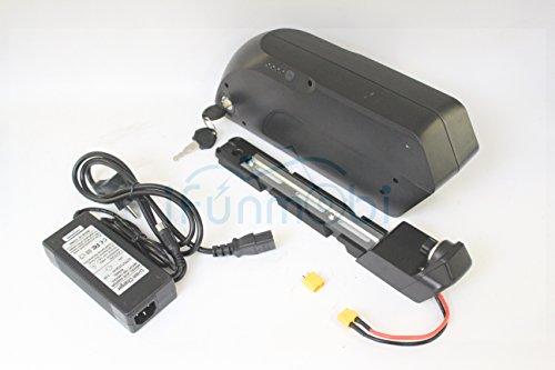 Preisvergleich Produktbild versandkostenfrei 48V 17,5AH Tiger Shark E-Bike Down Tube Lithium Akku 3,7V 18650Zelle mit BMS 2A Ladegerät + USB für mobile Ladekabel