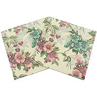 Gysad 5 paquetes (20 hojas/paquete) Servilletas papel flores Patrón de flores de la vendimia Servilletas papel Pulpa de madera nativa Servilletas decoupage size 33x33cm (#3)