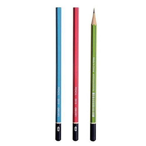 crayons-hb-bois-tubes-crayons-parfait-pour-les-enfants-12-comte-multicolore