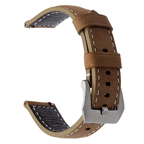 TRUMiRR 22mm cinturino da polso per la cinghia di lana rapida per Samsung Gear S3 Classic Frontier, Gear 2 Neo Live, Moto 360 2 46mm, Asus ZenWatch 1 2 Uomini, Tempo di ghiaia