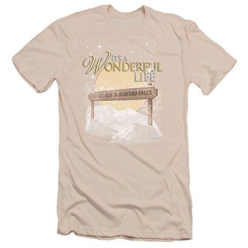 2Bhip It's A Wonderful Life Christmas Fantasy Film Bedford Falls Adult Slim T-Shirt