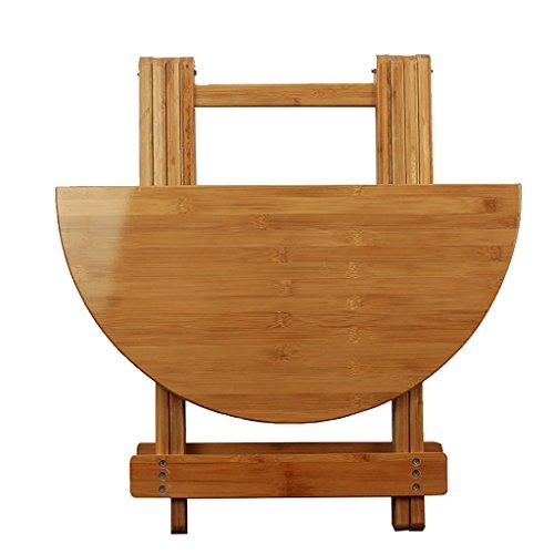 A-Fort Tisch Bamboo Holz Klapptisch Rundtisch Esstisch tragbaren kleinen runden Schreibtisch (größe : 60 * 50cm)