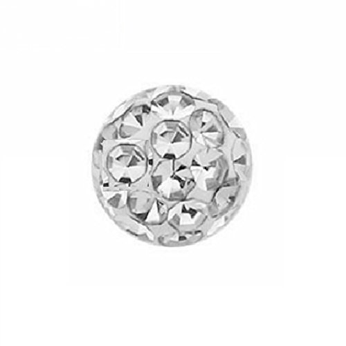 eeddoo® 4 mm - BD- Black Diamond - Epoxy - Klemmkugel - Kristall (Piercing Kugel für BCR Klemmringe) (Black Diamond Ring Rot Gold)