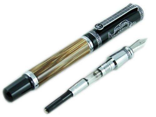 Duke bambù - Penna stilografica, disegno per commemorazione Confucio, rara da collezione - Casi Fountain Pen