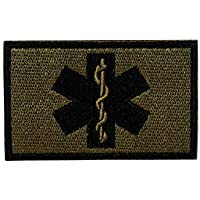Cobra Tactical Solutions Paramedic Star of Life Embroidery Patch with Hook & Loop for Cosplay/Airsoft / Paintball