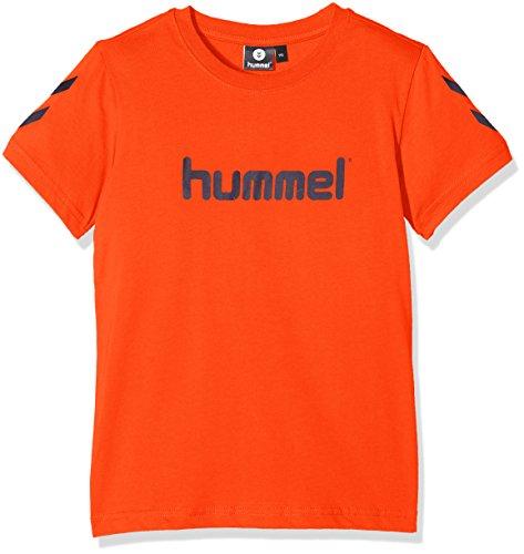 Hummel T-Shirt Jungen - JUNIOR V JAKI SS TEE AW17 - Trainingsshirt kurze Ärmel - Fitnessshirt Freizeit & Sport - Shirts 104-164 div. Farben Rundhals, Cherry Tomato, 152 (Sport-shirt Jungen)