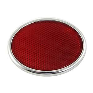 Autocollant réfléchissant Auto Sécurité voiture Décoration Rouge Argent Tone
