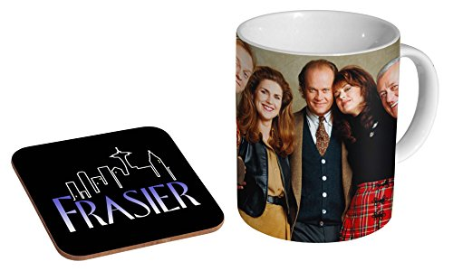 Frasier 90s Ceramic Coffee Mug + Coaster Gift Set