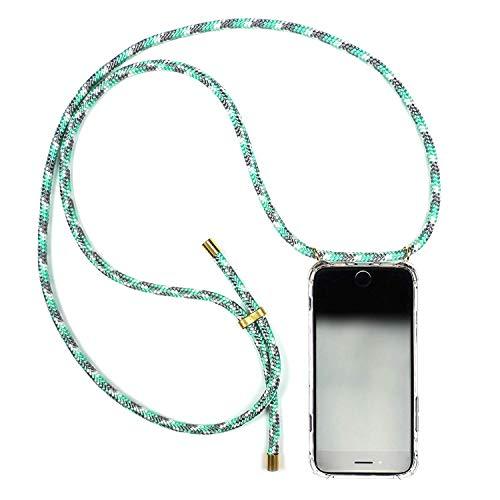 KNOK case KNOK Handykette Necklace Handyhülle mit Band - Smartphone Handy Hülle mit Kordel Umhängen Handy-Kette - iPhone und Samsung Huawei Case/Handy Band Seil (Huawei P20 Pro, Mint Camo)