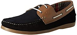 United Colors of Benetton Mens Black (901) Leather Boat Shoes - 8 UK