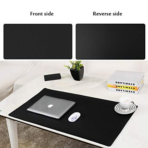 JiaQi Office Tischmatte Leder Mauspad,Premium Leder Computer Mousepad,Ultra Dünne Spiele Tastatur Pad Matte Für Büro Und Zu Hause-u 70x35cm(28x14inch) (Tastatur-handgelenkauflage 14 Zoll)