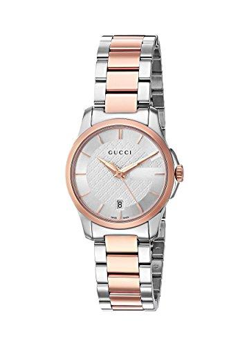 Gucci orologio analogico swiss-quartz da donna con cinturino in acciaio INOX YA126564
